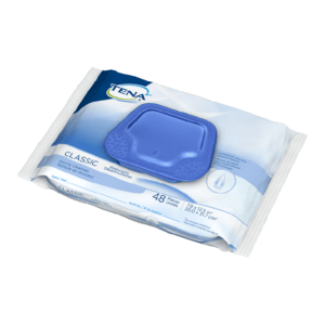 48 count flowpack tena classic washcloth